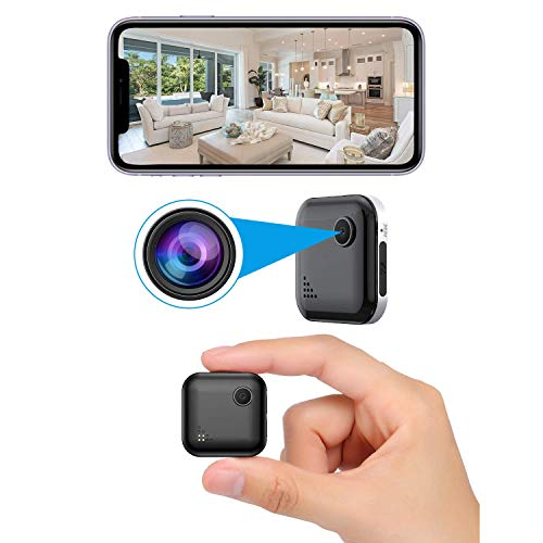 OUCAM Mini Spy Camera WiFi Wireless Hidden Camera with Audio Live Feed Home Security Camera Nanny Cam Wireless with Cell Phone App Night Vision Motion Detection Remote View