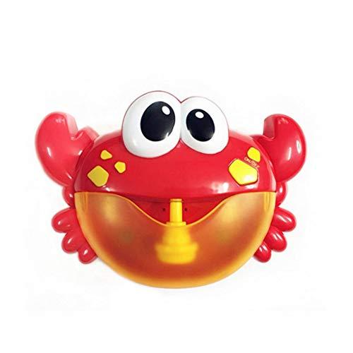 Liangcheng Juguete para El Baño del Bebé, Cangrejo Hacer Diversión Forma Baño De Burbujas Máquina Portátil Puzzle Hora del Baño De Hidromasaje Juguetes para Los Niños Infantil para Niños