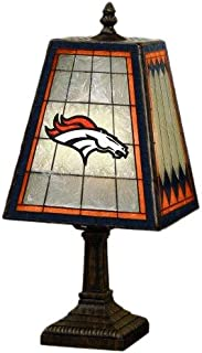 NFL Denver Broncos 14 Inch Art Glass Lamp