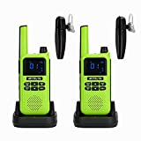 Retevis RA19 Bluetooth Walkie Talkie,Long Range 2 Way Radio with Wireless Bluetooth Earpiece,NOAA VOX 1400mAh USB Rechargeable Two Way Radio for Riding Hiking Camping Hunting (Green,2 Pack)