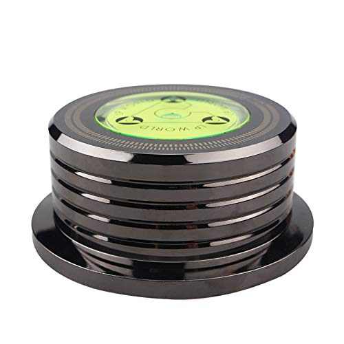 LEXIANG Estabilizador Universal de la Plataforma giratoria del Disco del Tocadiscos de Vinilo LP de 60Hz con Abrazadera de Peso de aleación de Aluminio de Nivel