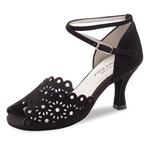 Anna Kern - Zapatos de danza para mujer, 6 cm, color negro, Negro (Negro ), 36 EU