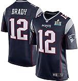 URPRU NFL Football Jersey Patriots Brady 12# Camiseta Hombres-Blue_M