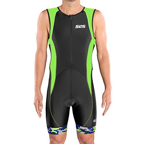 SLS3 Tri Suit Men – Men`s Tri Suit - Men Triathlon Suit Trisuit FX Black/Green