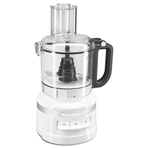KitchenAid KFP0718WH 7 Cup Food Processor, White