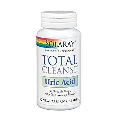Solaray Total Cleanse Uric Acid   Tart Cherry, Bromelain, Quercetin and More   Joint Comfort Support   Vegan   60 Caps from Solaray