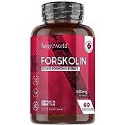 Pure Forskolin Capsules - 1000mg - Keto Friendly Coleus Forskohlii Extract Supplement for Men & Women, Diet Pills, Herbal Vegan Friendly Formula, Gluten Free, Daily Capsules - Made in The UK