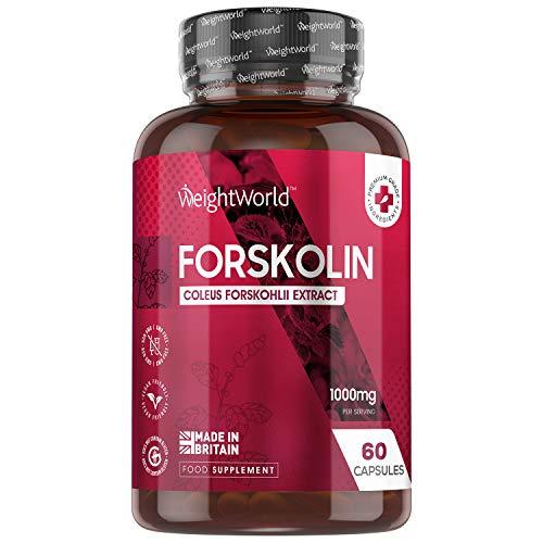 WeightWorld Forskolin Kapseln - 500mg Coleus Forskohlii Extrakt - 60 Kapseln - Für Veganer & Vegetarier geeignet - Buntnessel Extrakt - 100% Natürlich & Getestete Zutaten