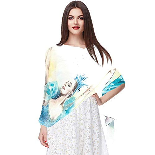 Kleine Fee in Kleid blau Schal Infinity Lightweight Long Sheer Wrap Shawl for Women
