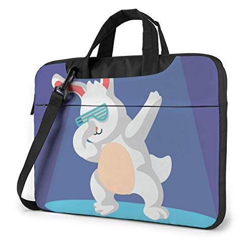 Rabbit Dabbing Laptop Sleeve Case Computer Tote Bag Shoulder Messenger Briefcase for Business Travel
