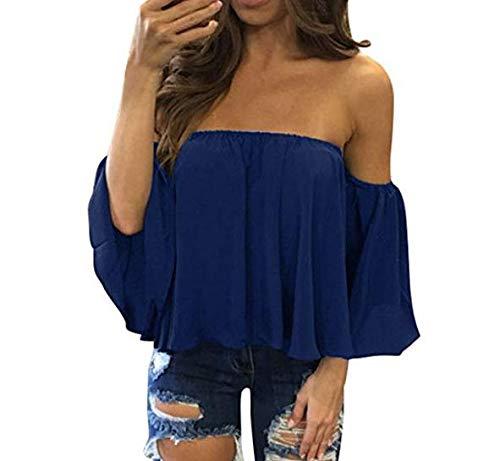 5Five Stylische süße Kragen Chiffon Hemd Sexy Lose T-Shirt Bluse Größe S (15...