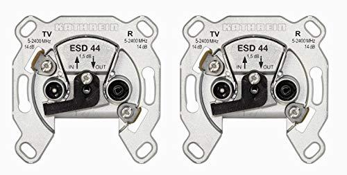 Kathrein ESD 44 Antennen-Steckdose, Durchgangstyp für BK und SAT (2 Stück)
