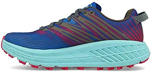 HOKA ONE ONE Womens Speedgoat 4 Mesh Imperial Blue Pink Peacock Trainers 8.5 US