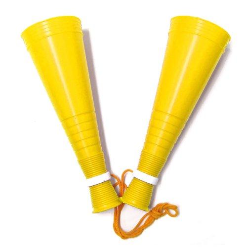 [プロモ] スリム ツイン メガホン (黄色) 30cm [野球 サッカー スポーツ 応援 グッズ] 体育祭 イベント