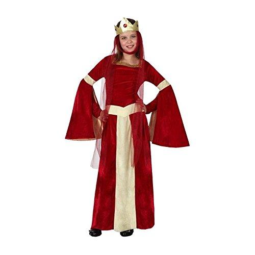 Atosa-15879 Disfraz Dama Medieval, color rojo, 10 A 12 Años (15879)