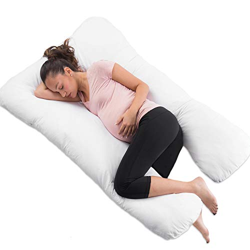 COMFYSURE Pregnancy Pillow - 59' U Shaped Full Body Pillow for Maternity Support or Side Sleepers - Hypoallergenic, Comfortable Cushion for Pregnant or Nursing Women, Supports Back, Hips, Legs & Belly