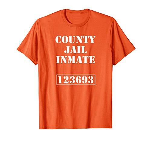 Knast Gefängnis Karneval Kostüm Jail Insasse T-Shirt T-Shirt