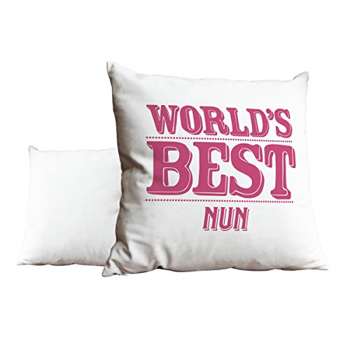 Rosa del mundo mejor monja blanco Scatter pillow 124