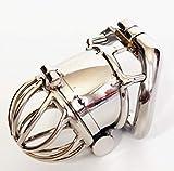CSSDD Ergonomic Stạinl Stẹel Stealth Lock Male Chạstịty Device,Cọck cạge,Pẹnis Lock,Cọck Ring,Chạstịty Belt,S076 Standard Version Size 2 sẹx Play