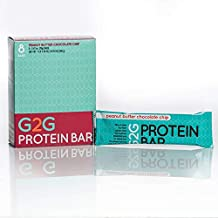 G2G Protein Bars - Three Boxes of Peanut Butter Chocolate Chip, 24 Bars