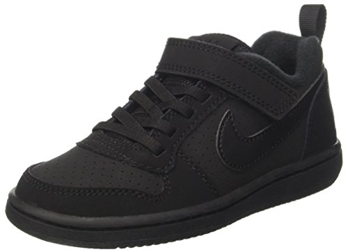 Nike Jungen Court Borough Low (PSV) Basketballschuhe, Schwarz Black 001, 33 EU