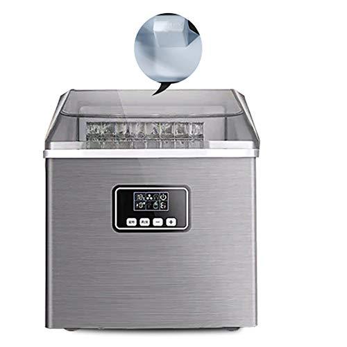 XUMI Eiswürfelmaschine, 24 Eiswürfel LCD-Eismaschine 25 kg Gewerblicher Milch Teeladen Kleine Haushaltsbar Quadratische Form EIS Transparente Abdeckung Eiswürfelbereiter