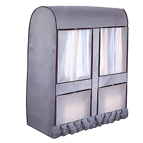 GAKIN Cubierta de estante de ropa de gran capacidad impermeable ropa Sholder gris 120x146x50cm 1 pc