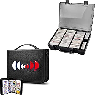 ALKOO Trading Card Binder Holds 400 Cards & 2200+ Card Case Holder Compatible with Pokemon/ Cards Against Humanity/Magic T...