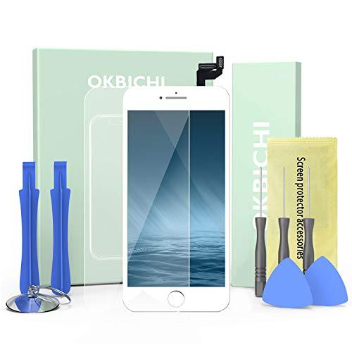 """OKBICHI Bianco Display Screen Digitizer per iPhone 6s (4,7"""") Schermo LCD Touch Schermo Kit Smontaggio Trasformazione Completo di Ricambio Utensili Inclusi"""