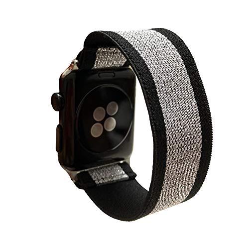 FAAGFC Scrunchie Correa for Reloj de la Banda de Apple 40mm 44mm elástico de Las Mujeres Correa 42mm 38mm Pulsera de la muñeca for IWATCH Serie 5 4 3 2 1 (Band Color : 136, Band Width : 42mm 44mm)