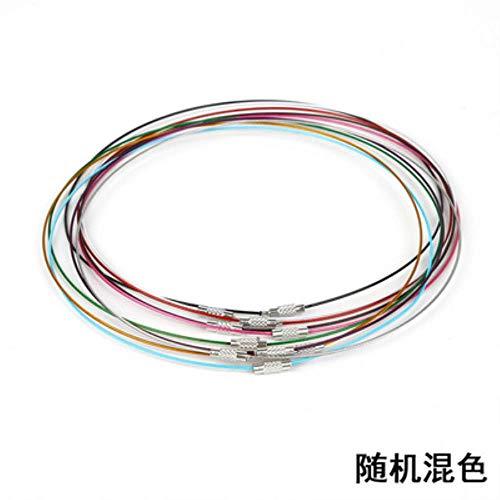 JPZCDK 20pc Memoria Fabricación de Joyas de Acero Inoxidable Gargantilla de Alambre Collar Cierres de Tornillo Cable de Alambre para Pulsera Artesanal DIY, Mezcla