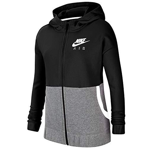 Nike Sudadera Air de niña, color negro y gris Negro XS