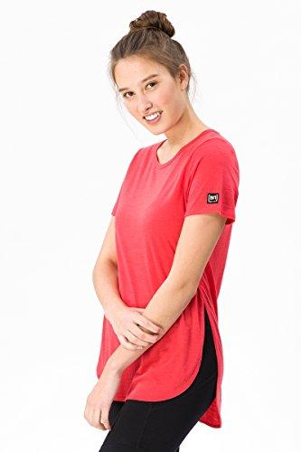 super.natural Weites Damen T-Shirt, Mit Merinowolle, W COMFORT JAPAN TEE, Größe: M, Farbe: Hellrot