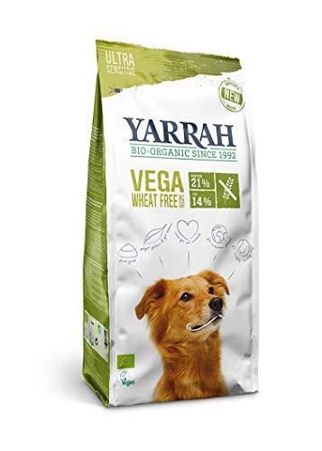 Yarrah Vega Vegetarisches Bio-Trockenfutter für Hunde – für ausgewachsene Hunde Aller Rassen | Exquisite Biologische Hundebrocken, 2kg | 100% biologisch, weizenfrei & frei von künstlichen Zusätzen