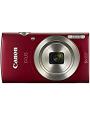 Canon Ixus 185 Fotoğraf Makinesi, Full HD (1080p), Kırmızı, 2 Yıl Canon Eurasia Garantili