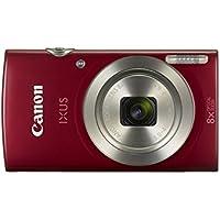 """Canon IXUS 185 - Cámara compacta de 20 MP (pantalla de 2.7"""", Digic 4+, 16x ZoomPlus, vídeo HD, modo Smart Auto, Date Button, Easy Auto) rojo"""