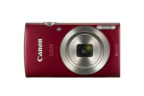 Canon IXUS 185 Digitalkamera (20 MP, 6,8cm (2,7 Zoll) LCD, Display, DIGIC 4+, 8x optischer Zoom, Smart Auto, HD Movies, USB, 720p) rot