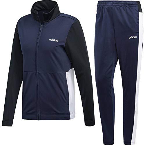adidas Damen Plain Tricot Trainingsanzug, Legend Ink/White/Black, S