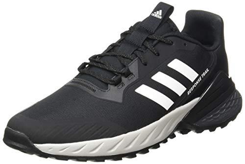 adidas Response Trail 2.0, Zapatillas Hombre, NEGBÁS/FTWBLA/GRISEI, 42 2/3 EU