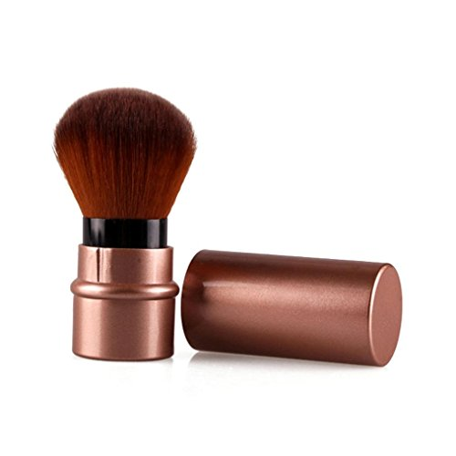 Usstore 1PC Retractable Makeup Cosmetic Brush Beauty Brushes Foundation Tool Make Up For Professional Women Lady (Brown) Mississippi