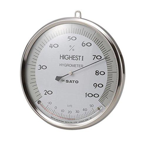 ハイエスト1型湿度計温度計付 150mm 校正書類付 /62-0850-61