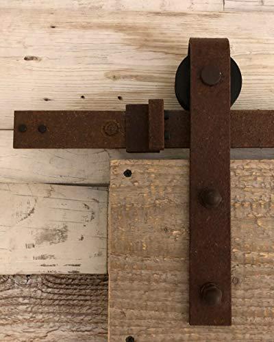 Schiebetürsystem gerade 200 cm Rusted - komplettes Set mit Laufrollen und Schiene - 2 Meter Schiebetürsystem gerade (Rost) - Rust