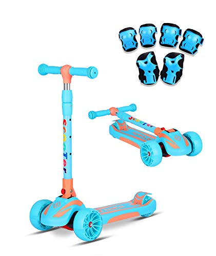 K-Speed 3 Wheels Kick Scooter for Kids and Toddlers Girls &...