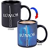 Harry Potter Lumos / Nox Heat Reveal Ceramic Coffee Mug - Magic Spells Activate with Heat!