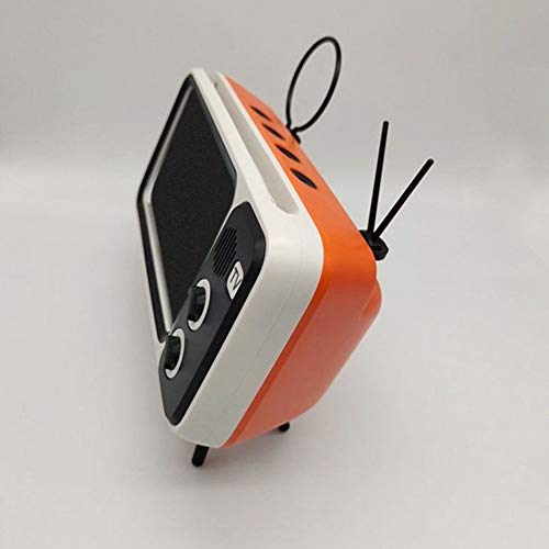 SWNN Altavoz Bluetooth Bolsillo Retro Reproductor de música del Altavoz de Orange TV Bluetooth Mini-portátiles de Audio inalámbrica doméstica