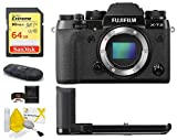 Fujifilm X-T2 Mirrorless Digital Camera Body + MHG-XT2 Metal Hand Grip Bundle, Includes: SanDisk 64GB Extreme SDXC Memory Card, Card Reader and More