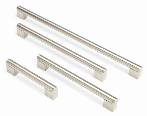 Splendide maniglie a barra per ante o cassetti da cucina - da 128 mm a 480 mm, 7 misure disponibili, Acciaio, Silver, 320mm