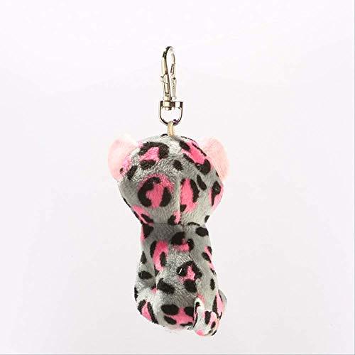 Pluche,Ty 4 \10cm Tasha Grijs En Roze Leopard Clip Pluche Sleutelhanger Knuffel Collectie Pop Speelgoed 10cm 1