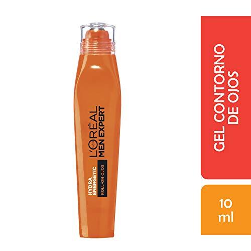 L'Oréal Paris Men Expert Hydra Energetic Roll-on de Ojos Efecto Hielo, Anti Bolsas y Ojeras - 10 ml