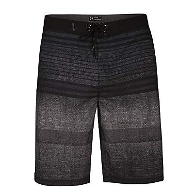 "Hurley Men's Phantom Printed 21"" Stretch Boardshort Swim Short, Black, 32"